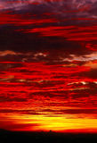 Dramatic Sunset. Dramatic red , orange sunset over city skyline Royalty Free Stock Photos