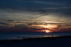 Dramatic Sunset. On the Mississippi Gulf Coast Royalty Free Stock Photography