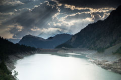 Dramatic sunset in Alps Royalty Free Stock Photo