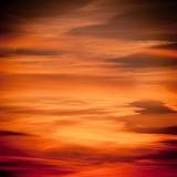 Dramatic sunset as sky background Royalty Free Stock Image