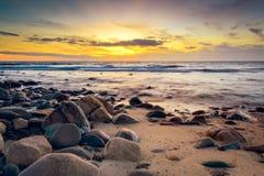Free Dramatic Sunset At The Rocky Coast Stock Photos - 66518453