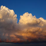 Dramatic sunset clouds Royalty Free Stock Image