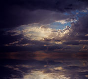 Dramatic sunset. Royalty Free Stock Photography