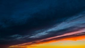 Sunset clouds, time-lapse stock video footage