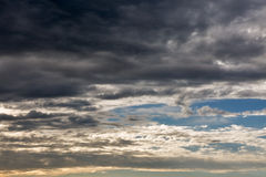Dramatic sunset cloudscape Royalty Free Stock Photos