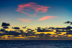 Dramatic sunset with  colourful clouds. South Australia Royalty Free Stock Photography