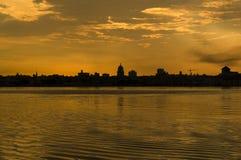 Dramatic sunset in Havana stock photos