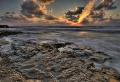 Dramatic sunset HDR Royalty Free Stock Photography