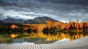 Mountains Lake Sunset Royalty Free Stock Photo