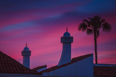 Dramatic Sunset in Maspalomas Royalty Free Stock Photography