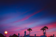 Dramatic Sunset in Maspalomas Royalty Free Stock Photo