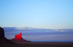 Dramatic sunset in Monument Valley Royalty Free Stock Photo