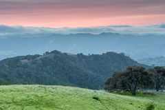 Dramatic Sunset at Mt Diablo State Park, Contra Costa County, California, USA Royalty Free Stock Image