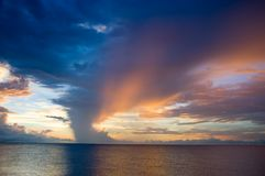 Dramatic sunset from Naples, Florida stock image