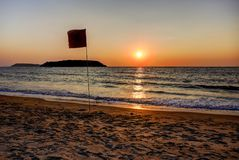 Sunset in Goa, India royalty free stock photography