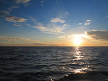 Dramatic sunset over the Baltic sea Royalty Free Stock Images