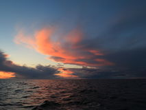 Dramatic sunset over the Baltic sea Stock Images
