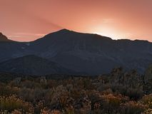 Dramatic sunset over the Eastern Sierras near Mono Lake royalty free stock images