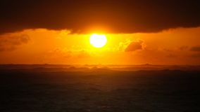 Dramatic sunset over ocean waves. Clouds. Dramatic sunset over ocean waves. Cloudy sky stock video footage