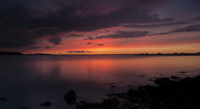 Dramatic sunset over Poole Harbour Royalty Free Stock Photography