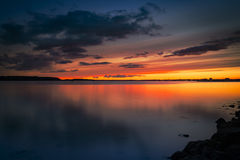 Dramatic sunset over Poole Harbour Royalty Free Stock Photos