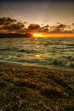 Dramatic sunset over the sea Stock Photo