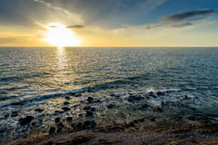 Dramatic sunset over the sea Royalty Free Stock Photo