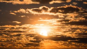 Free Dramatic Sunset Over The Storm Clouds. Time Lapse Stock Photo - 141760680