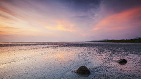 Dramatic Sunset at Penang Island. Stock Photography