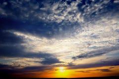 Dramatic sunset photo Royalty Free Stock Image