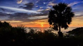 Dramatic Sunset in Phuket, Thailand Royalty Free Stock Photos