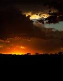 Dramatic sunset portrait Royalty Free Stock Image