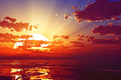 Dramatic sunset Royalty Free Stock Photography