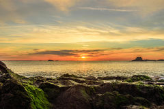 Dramatic sunset in Saint Malo Royalty Free Stock Photo