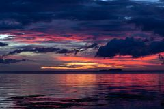 Dramatic sunset in Siquijor Stock Photography