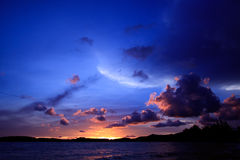 Dramatic sunset sky Stock Images