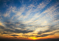 Dramatic sunset sky Stock Photography