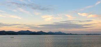 Dramatic sunset sky on Andaman sea Stock Photography