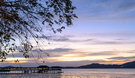 Dramatic sunset sky on Andaman sea Stock Photo