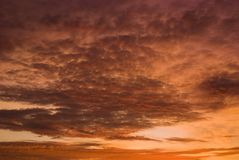 Dramatic Sunset Sky and Clouds. Royalty Free Stock Photos
