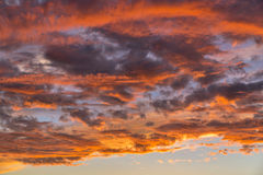 Dramatic sunset sky with clouds Royalty Free Stock Photo