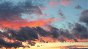Dramatic sunset sky with clouds - time lapse. stock footage