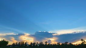Dramatic sunset sky with colorful clouds. In Thailand stock footage