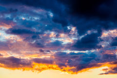 Dramatic sunset sky royalty free stock image