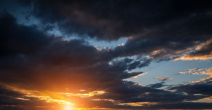 Dramatic sunset sky. Royalty Free Stock Images