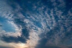 Dramatic sunset sky. Stock Photos