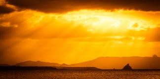 Dramatic sunset Stock Photos