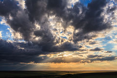 Dramatic Sunset Stormy Cloudscape Royalty Free Stock Photo