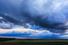 Dramatic Sunset Stormy Cloudscape Stock Images
