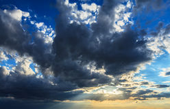 Dramatic sunset stormy cloudscape Royalty Free Stock Photography